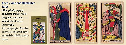 Ancient Tarot of Marseilles, Tarotkarten